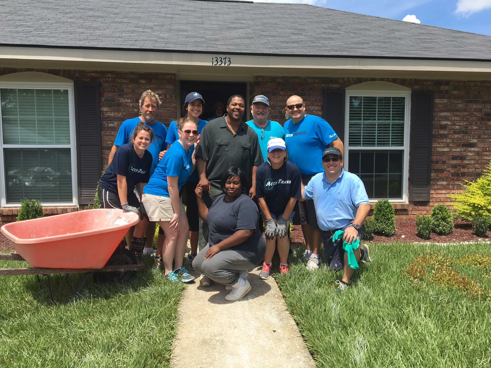AccuTRANS shows true HEART through supporting family members after flood